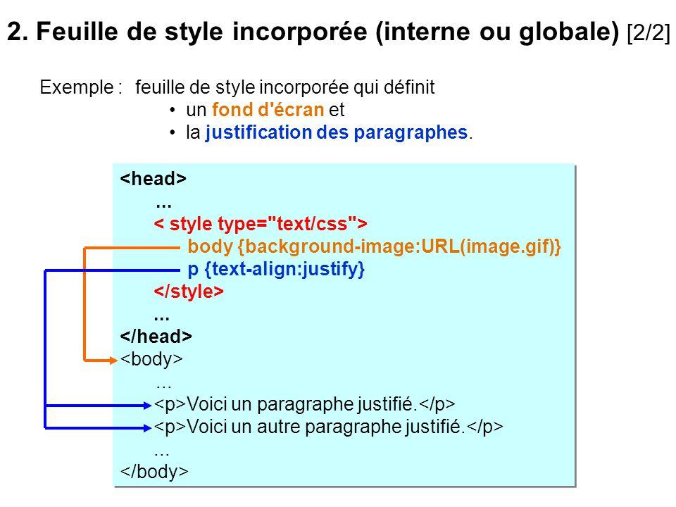 2. Feuille de style incorporée (interne ou globale) [2/2]